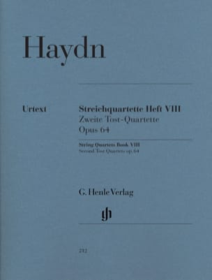 HAYDN - String quartets volume VIII, op. 64 Second Tost Quartets - Sheet Music - di-arezzo.co.uk