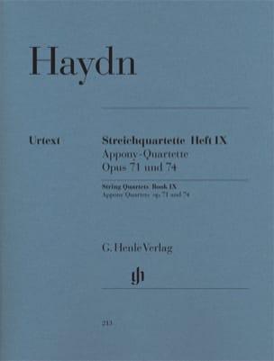 HAYDN - String quartets volume IX, op. 71 and 74 Apponyi Quartets - Sheet Music - di-arezzo.co.uk