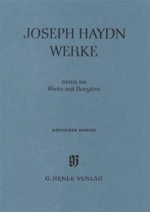 Werke mit Baryton - Kritischer Bericht - HAYDN - laflutedepan.com