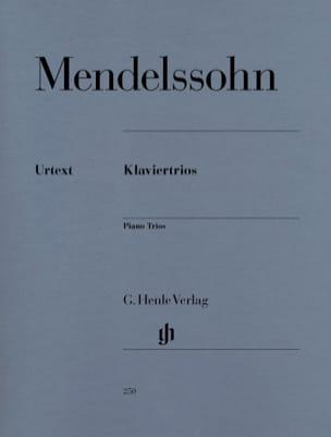 MENDELSSOHN - Trios avec piano op. 49 und 66 - Partition - di-arezzo.fr
