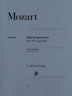MOZART - K. 478 and 493 Piano Quartets - Sheet Music - di-arezzo.co.uk