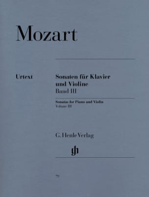 MOZART - Sonatas for violin, volume 3 - Sheet Music - di-arezzo.co.uk