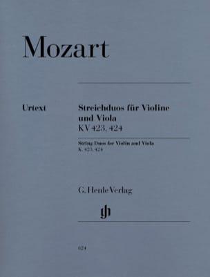 Duos à cordes K. 423, 424 pour violon et alto MOZART laflutedepan