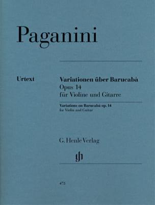 Niccolò Paganini - 60 Variations sur Barucabà op. 14 pour violon et guitare - Partition - di-arezzo.fr