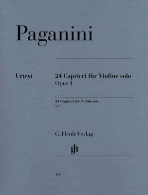 Niccolò Paganini - 24 Capricci op. 1 - Partition - di-arezzo.fr