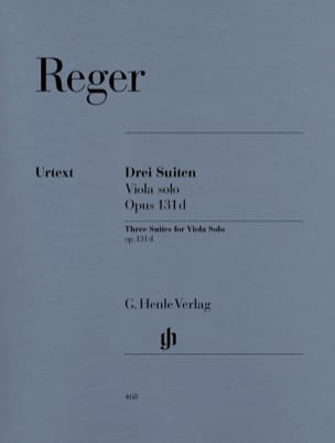 Max Reger - Three Suites op. 131d for solo viola - Sheet Music - di-arezzo.co.uk