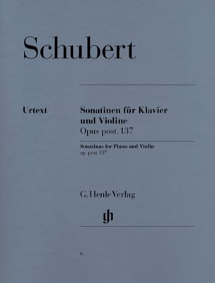 Sonatines pour violon op. post. 137 SCHUBERT Partition laflutedepan