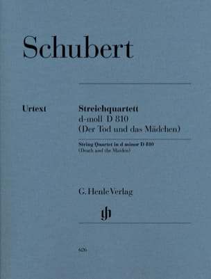 SCHUBERT - String quartet in D minor D 810 The girl and death - Sheet Music - di-arezzo.co.uk