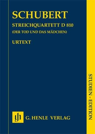 SCHUBERT - Quatuor à cordes en ré mineur n° 14 D 810 La jeune fille et la mort - Partition - di-arezzo.fr