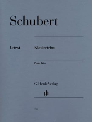 SCHUBERT - Trios avec piano - Partition - di-arezzo.fr