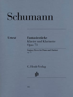SCHUMANN - Fantasiestücke für Klavier and Klarinette oder Violine oder Violoncello - Sheet Music - di-arezzo.co.uk