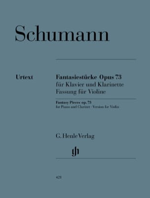 SCHUMANN - Fantasiestücke Op. 73 Version for violin and piano - Sheet Music - di-arezzo.co.uk