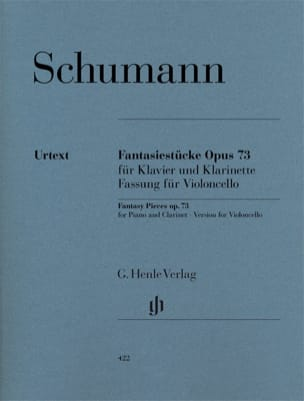 SCHUMANN - Fantasiestücke op. 73 - Cello - Sheet Music - di-arezzo.com