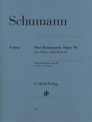 SCHUMANN - Three Romances op. 94 for oboe and piano - Sheet Music - di-arezzo.co.uk