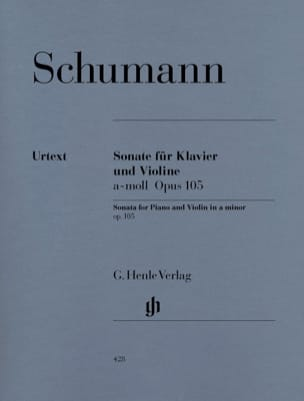 SCHUMANN - Sonata for violin in A minor op. 105 - Partition - di-arezzo.co.uk