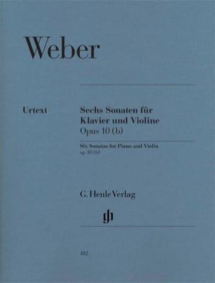 6 Sonates pour violon op. 10 b Carl Maria von Weber laflutedepan