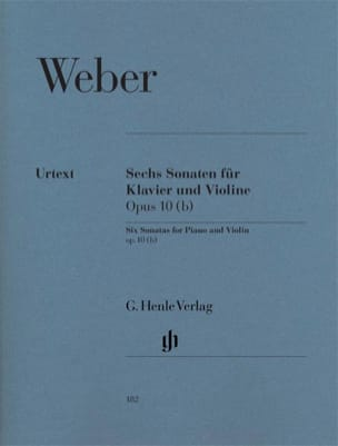 Carl Maria von Weber - 6 Violinsonaten op. 10 (b) - Noten - di-arezzo.de