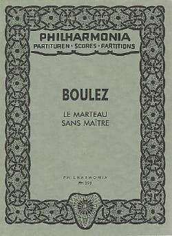 Pierre Boulez - Le marteau sans maître - Partitur ÉPUISÉ - Partition - di-arezzo.fr