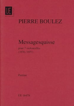 Pierre Boulez - Messagesquisse (1976) – Conducteur - Partition - di-arezzo.fr