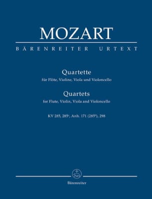 MOZART - Quartette for Flöte, Violine, Viola und Violoncello. Urtext. - Sheet Music - di-arezzo.co.uk
