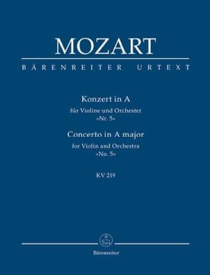 MOZART - Konzert A-Dur für Violine und Orchester Kv 219 - Partition - di-arezzo.fr