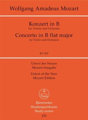 MOZART - Violinkonzert B-Dur KV 207 - Partitur - Partition - di-arezzo.fr