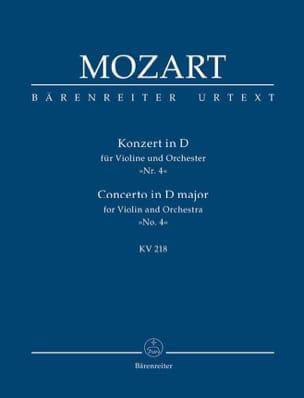 MOZART - Violinkonzert D-Dur Kv 218 - Partition - di-arezzo.fr