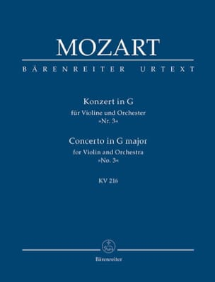 MOZART - Violin-Konzert G-Dur KV 216 - Partitur - Sheet Music - di-arezzo.co.uk