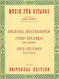 5 Studien für Gitarre - Michael Buchrainer - laflutedepan.com