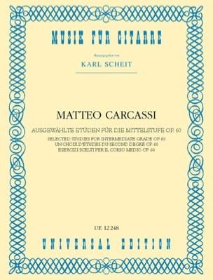 Ausgewählte Etüden für die Mittelstufe Matteo Carcassi laflutedepan