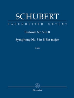 SCHUBERT - Symphonie Nr. 5. Neue Schubert-Ausgabe B-dur - Partition - di-arezzo.fr