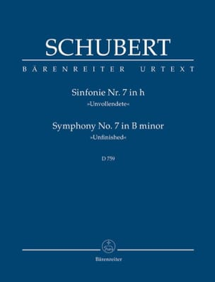 SCHUBERT - Symphony Nr. 7 Unvollendete - Partitur - Sheet Music - di-arezzo.co.uk