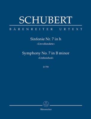 SCHUBERT - Symphony Nr. 7 Unvollendete - Partitur - Sheet Music - di-arezzo.com