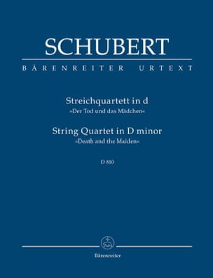 SCHUBERT - Quartetto - La ragazza e la morte - Partitura - di-arezzo.it