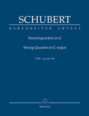 SCHUBERT - Streichquartett D 887 Urtext G-Dur - Sheet Music - di-arezzo.co.uk