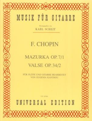 Mazurka Op.7 N°1 & Valse Op.34 N°2 - CHOPIN - laflutedepan.com