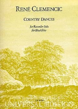 René Clemencic - Country Dances - Recorder solo - Partition - di-arezzo.fr