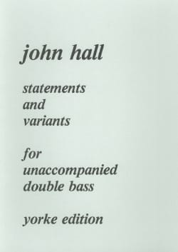 John Hall - Statements and Variants - Sheet Music - di-arezzo.co.uk