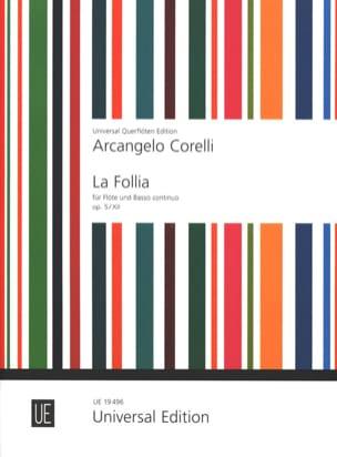 La Follia op. 5 n° 12 - Flûte et Bc CORELLI Partition laflutedepan