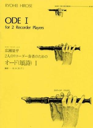 Ryohei Hirose - Ode I - Partition - di-arezzo.fr