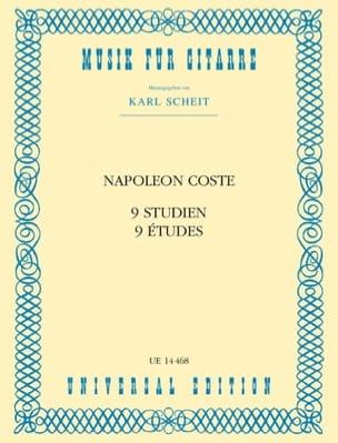 9 Studien - Napoléon Coste - Partition - Guitare - laflutedepan.com