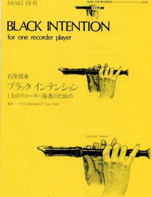 Black intention - Recorder Maki Ishii Partition laflutedepan