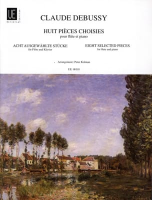 DEBUSSY - 8 Selected Pieces - Flute and Piano - Partition - di-arezzo.co.uk