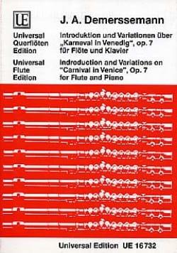 Jules Demersseman - Introduktion und Variationen über Karneval von Venedig op. 7 - Partition - di-arezzo.fr