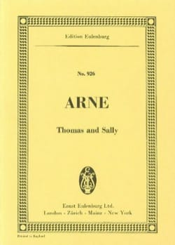 Thomas Augustine Arne - Thomas and Sally - Sheet Music - di-arezzo.com