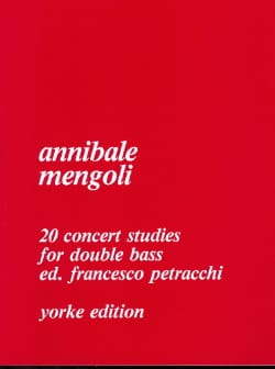Annibale Mengoli - 20 Concert Studies for double bass - Partition - di-arezzo.fr