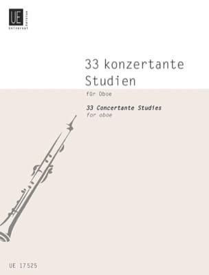Gunther Joppig - 33 Konzertante Studien für Oboe - Partition - di-arezzo.fr