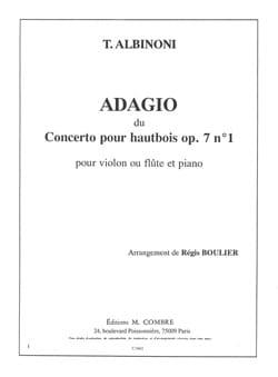 Tomaso Albinoni - Adagio du Concerto pour hautbois op. 7 n° 1 - Partition - di-arezzo.fr