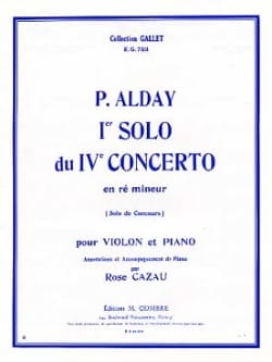 Paul Alday - 1er Solo du Concerto pour violon n° 4 - Partition - di-arezzo.fr