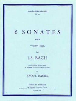 Johann Sebastian Bach - 6 Sonates - Partition - di-arezzo.fr